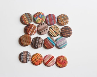 16 african theme magnets,african button pin,locker magnet,button magnet,african wedding magnet favor,birthday favor gift,office magnet