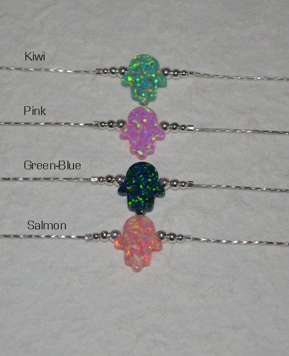 Opal Hamsa Hand Bracelet, Tiny Silver Bracelet, Small Opal Bracelet, simple dainty opal protection/good luck/evil eye bracelet, opal jewelry