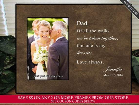 Father Of The Bride Wedding Gifts: Father Of The Bride Gift Favorite Walk Bridal Wedding Frame