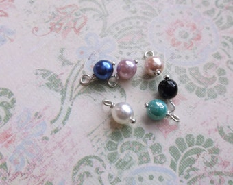 glass pearl charms 6 mm additions
