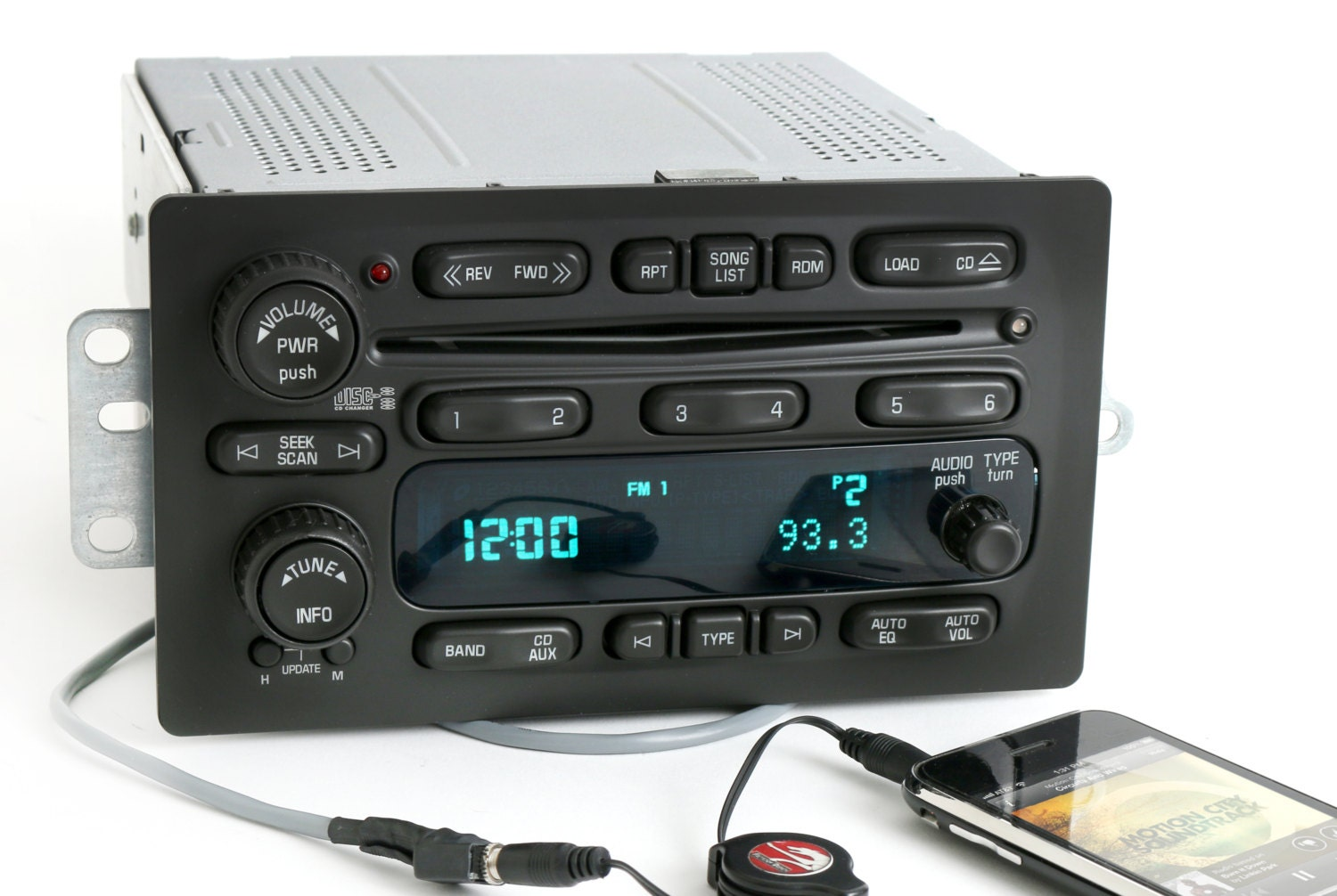 Chevy 2005 To 09 Truck 6 Disc Cd Player Radio W Aux Input