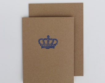 2014 Bible verse card -«Royal Crown» Psalms 34 : 4