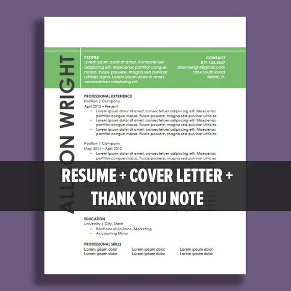 instant resume templates resume template package instant download microsoft word
