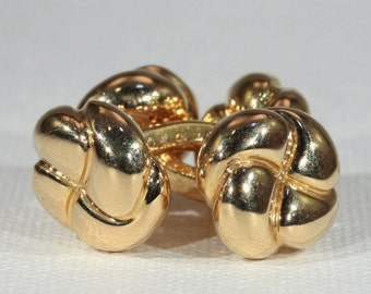 Fantastic Vintage 18k Gold French Cufflinks, Classically Styled c. 1920