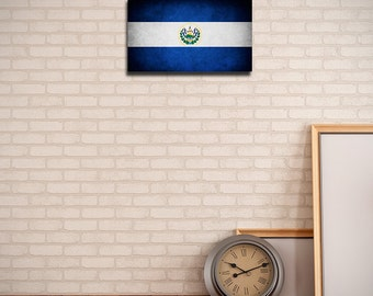 El Salvador Canvas Flag (w/ Free Shipping!)