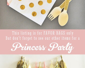 Princess Birthday Favors - Princess Party Favor Bags - Princess Bags - Princess Favor Bags Princess Candy Bags 2|(EB2358FY) set of 24 BAGS