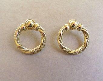 vintage hoop costume earrings