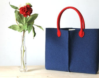 Elegant and Casual Felt Bag from Italy, Tote Bag, Market Bag, Everyday Tote, Handmade bag, Gift For Her, Christmas Gift For Her