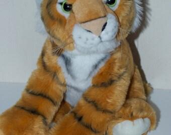 """Petting Zoo Tiger Plush Stuffed Animal 10"""" 1994"""