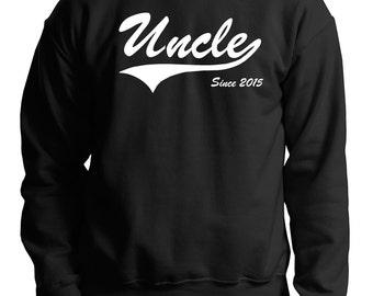 Uncle Since 2015 Sweatshirt Gift For Uncle Fleece Sweater