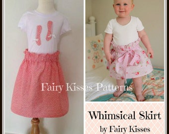 Whimsical Skirt PDF Pattern - Paper Bag Waist Skirt