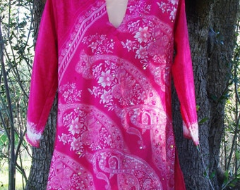 Indian Tunic- Hippie Tunic Summer Dress Tribal Tunic Boho Tunic Ethnic Tunic Tunic Dress Tunic Top Womens Tunic  Fashion Tunic Sari Tunic