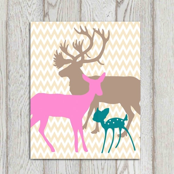 Popular Items For Nursery Decor On Etsy Baby Shower: Items Similar To Deer Nursery Print Printable Girl Room