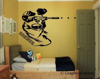 Custom Paintball Wall Decal- Paintball, Paintballing, Paintball Decal - Custom Paintball