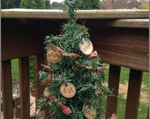 Primitive,Christmas,Tags,Rags,Rustic, Holiday, Tree, Christmas Tree,OFG,FAAP
