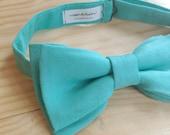 SALE! BowTie 'Siméon' - bright turquoise blue cotton