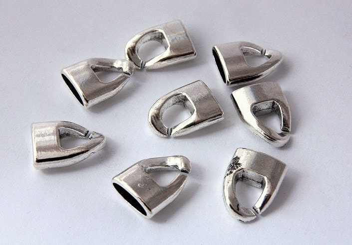 Metal leather clasps pcs end cap clasp mm hook