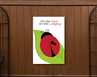 Pin the Spot on the Ladybug Game- Ladybug Poster- Ladybug Party Poster
