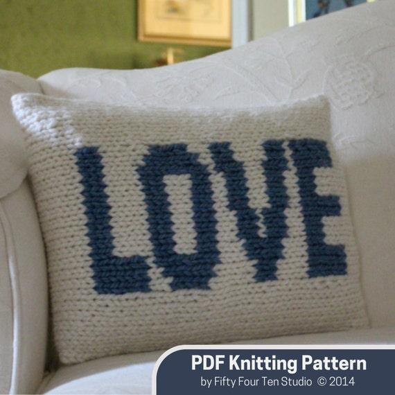 Items similar to Pillow KNITTING PATTERN /
