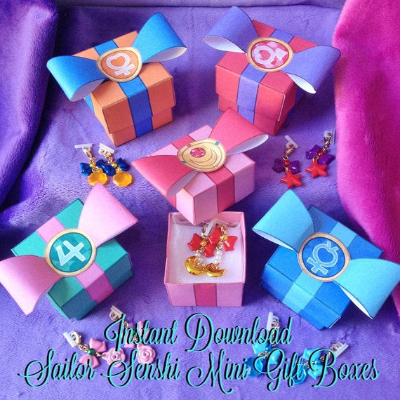 Sailor Moon Inspired Mini Gift Box Instant Download
