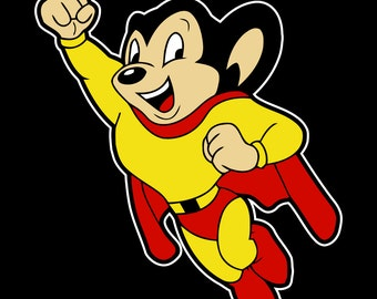 Mighty Mouse Vintage Style Vinyl Decal Sticker Comic Superhero