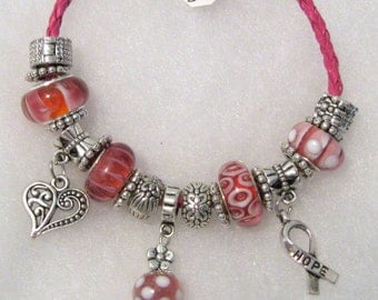 551 - CLEARANCE - Think Pink - Breast Cancer Awareness Bracelet