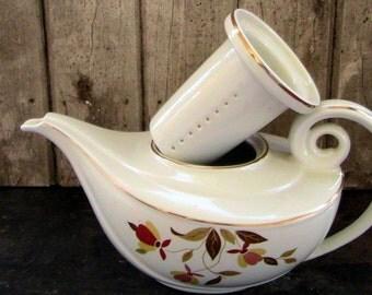 Vintage Hall's Teapot - Autumn Leaf 1940's Jewel Leaf Housewares Home Decor Kitchenware
