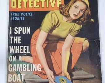 Crime Detective True Police Stories March 1943 Vol. 5 No. 4 Vintage Mystery Crime Pulp Magazine GGA