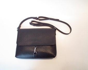 woman bag leather bag black shoulder bag leather