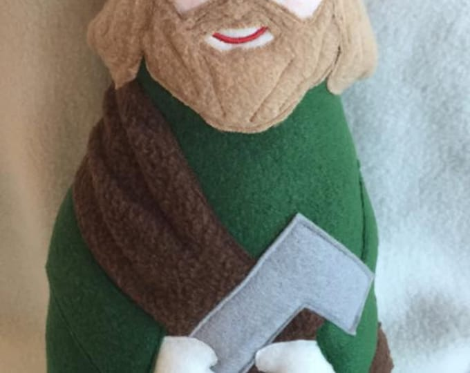 Saint Joseph The Worker Soft Saint Doll, Foster Father of Jesus, St Joseph, Patron of Workers, Patron of Fathers, Joseph the Carpenter