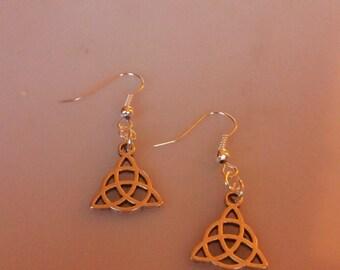 Charmed Celtic Trinity Knot Charm Earrings