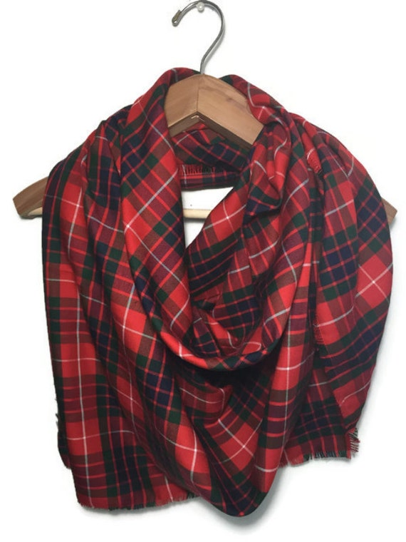 Red And Green Plaid Scarf Red And Green Plaid Blanket