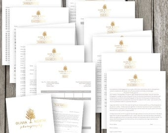 Photography Business Forms & Contracts Set - Wedding Photography Contract - Contract Templates for Photographers - PF06