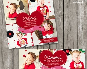 Valentines Day Mini Session Template - Valentine Facebook Cover Marketing Board Templates - Valentine's Day Session Flyer - TS05