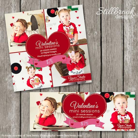 Valentines Day Mini Session Template Valentine Facebook