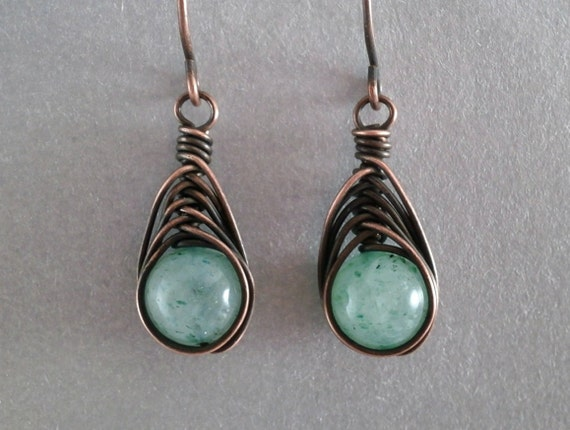grade titanium earrings grade 1 titanium earrings green aventurine earrings 7738