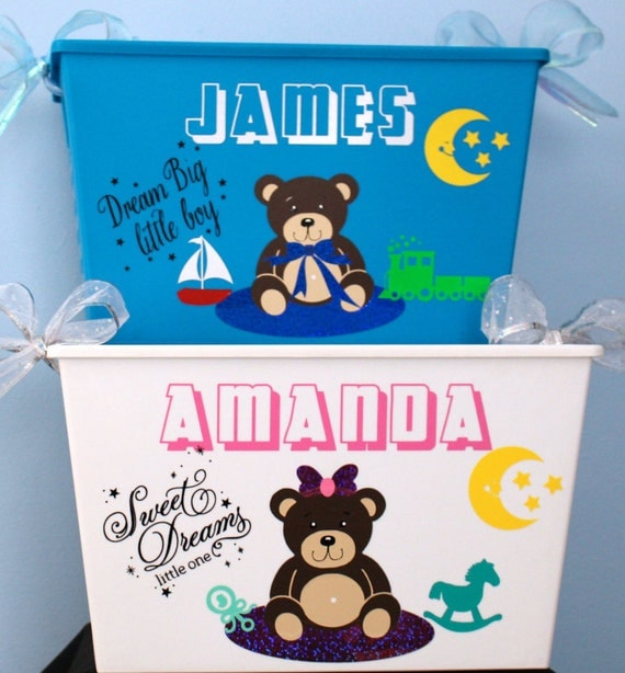 Personalized Baby Gifts Toy Box : Personalized tub easter basket baby gift by
