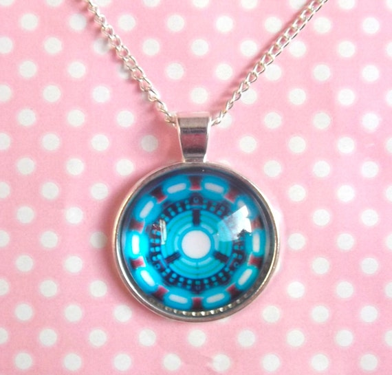 iron arc reactor cameo necklace by kawaiikave on etsy