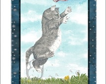 The Sky Kitten, (Page of Swords) Giclee Print, from Mystical Cats Tarot
