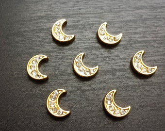 Gold Moon Floating Charm for Floating Lockets