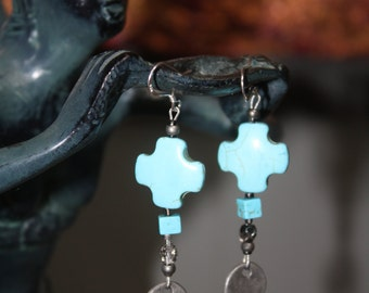 Turquoise Earrings to go with the Broken Hearted Skeleton