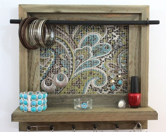 Wall Mounted Jewelry Organizer, Jewelry Display, Necklace Holder, Jewelry Holders - Christmas Gift