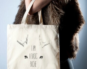 """I'm a basic DOE"" tote bag"
