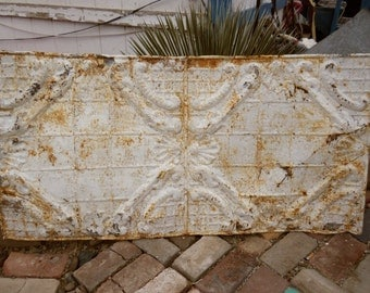 Large, Rustic, Antique Ceiling Tin 2' x 4' Architectural Salvage