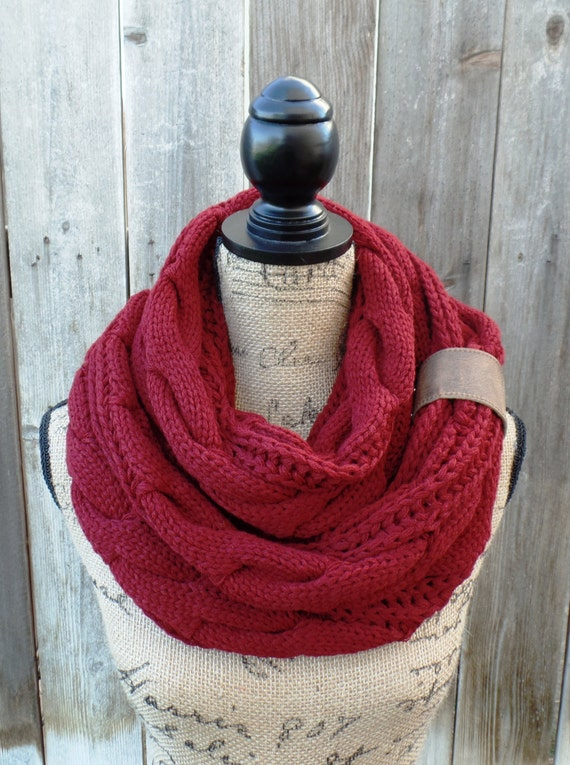 Knit Infinity Scarf, Knit Winter Scarves, Womens Knit Infinity Scarf ...