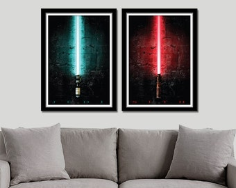 Saber Inspired - Sith vs Jedi (Print 236) - Home Decor