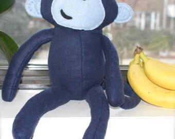 Hand Stitched Fleece Monkey