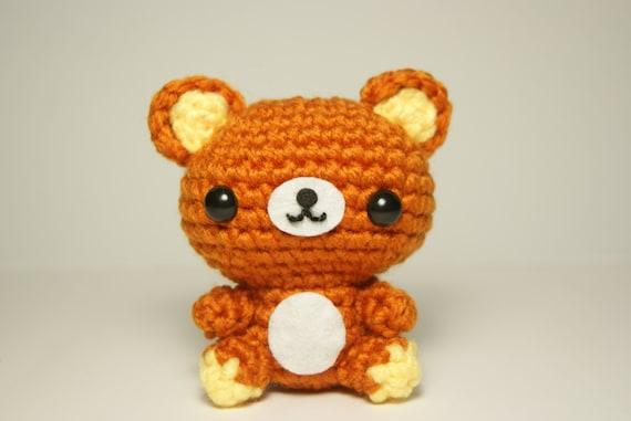 Amigurumi Rat : Rilakkuma bear Amigurumi 8 cm.