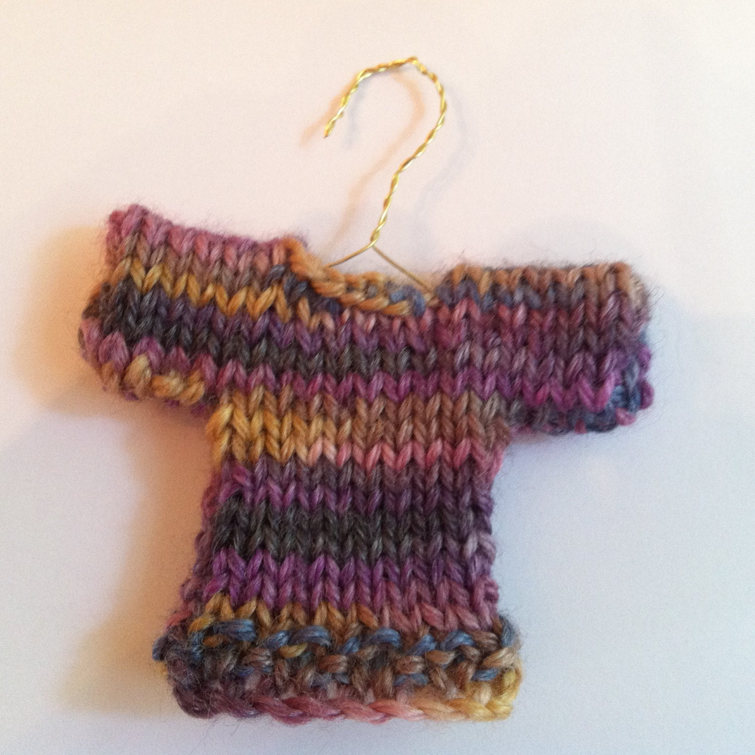 Knit Pattern Sweater Ornament : Cute Mini Knit Sweater Ornament Handmade Ornament Knit
