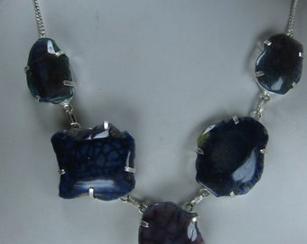 Clearance Sale - Natural Tree and moss Agate Necklace, 253.8.5 ct. Gemstone Necklace